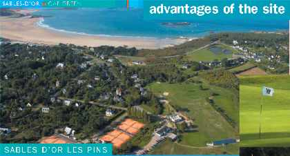 Location next to golf course and sea