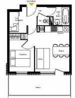 1-bed + cabine example b
