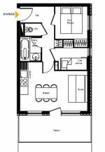 1-bed + cabine example a